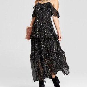 Tiered star pattern dress
